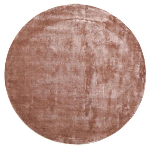 Broadway - Dusty Rose Teppe Ø 300 Moderne Rundt Mørk Rød/Lyserosa/Lysbrun Stort ( India)