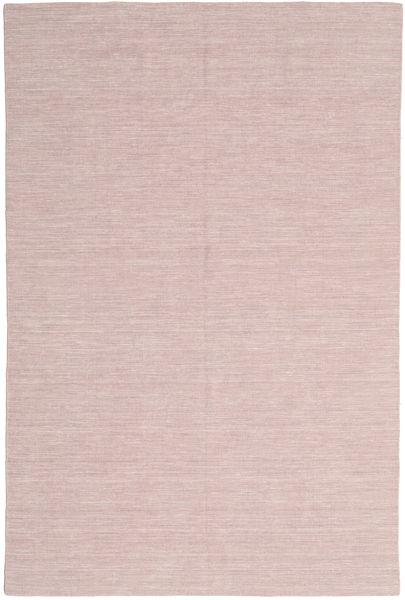 Kelim Loom - Misty Pink Teppe 200X300 Ekte Moderne Håndvevd Lyserosa/Lyselilla (Ull, India)
