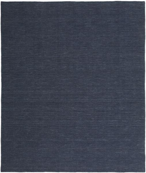 Kelim Loom - Denim Blå Teppe 250X300 Ekte Moderne Håndvevd Mørk Blå/Blå Stort (Ull, India)