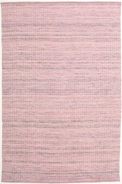 Alva - Pink/Vit Teppe 200X300 Ekte Moderne Håndvevd Lyserosa/Lyselilla (Ull, India)