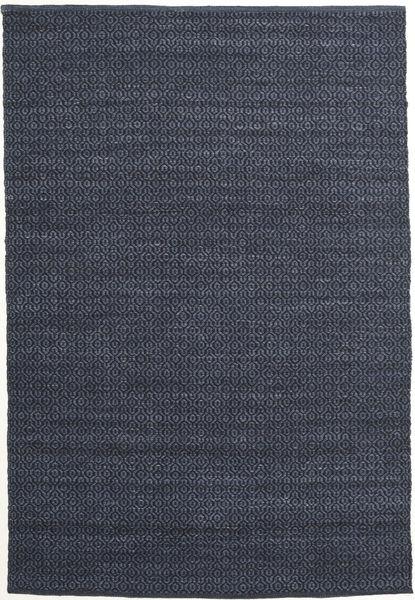 Alva - Blå/Svart Teppe 160X230 Ekte Moderne Håndvevd Mørk Blå/Lilla (Ull, India)