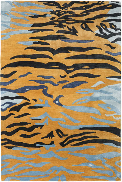 Love Tiger - Oransje/Grå Teppe 200X300 Moderne Lysbrun/Svart ( India)