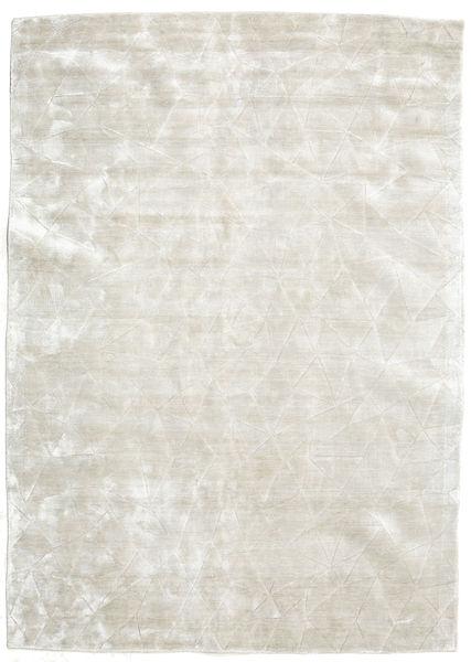 Crystal - Sølvvit Teppe 140X200 Moderne Lys Grå/Mørk Beige ( India)