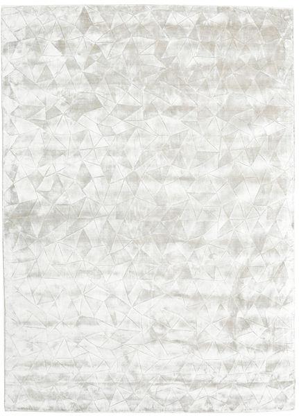 Crystal - Sølvvit Teppe 210X290 Moderne Lys Grå/Beige ( India)