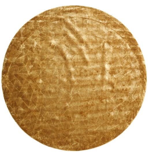 Crystal - Gull Teppe Ø 250 Moderne Rundt Lysbrun/Mørk Beige Stort ( India)