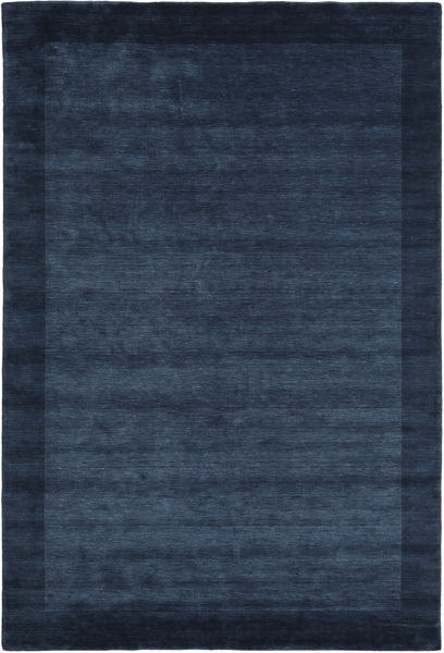 Handloom Frame - Mørk Blå Teppe 200X300 Moderne Mørk Blå/Blå (Ull, India)