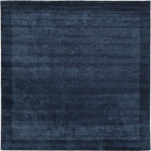 Handloom Frame - Mørk Blå Teppe 300X300 Moderne Kvadratisk Mørk Blå Stort (Ull, India)