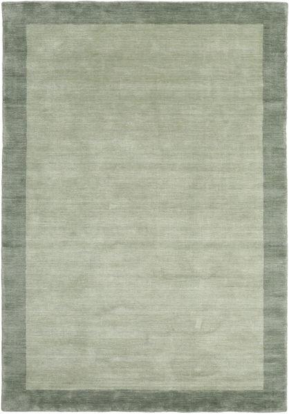 Handloom Frame - Grå/Grønn Teppe 160X230 Moderne Lysgrønn/Pastell Grønn (Ull, India)