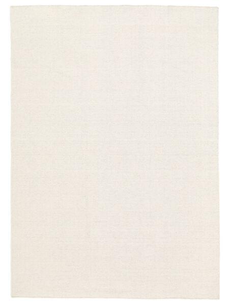 Kelim Loom - Off White Teppe 160X230 Ekte Moderne Håndvevd Beige (Ull, India)