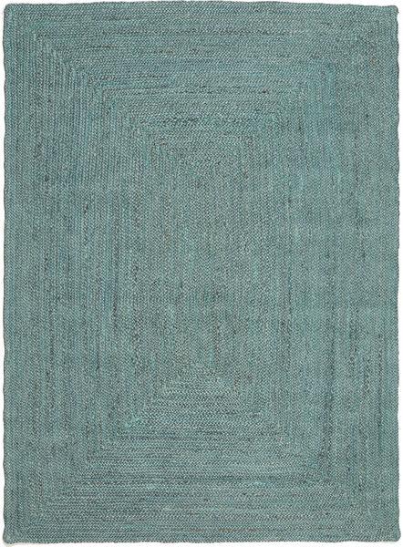 Utendørsteppe Frida Color - Turquoise Teppe 140X200 Ekte Moderne Håndvevd Turkis Blå/Turkis Blå (Juteteppe India)