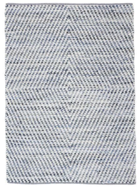 Hilda - Denim/Vit Teppe 140X200 Ekte Moderne Håndvevd Beige/Lys Blå (Bomull, India)