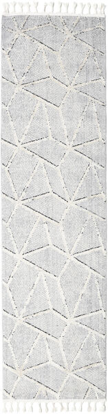 Scandic Teppe 80X300 Moderne Teppeløpere Lys Grå/Hvit/Creme ( Tyrkia)