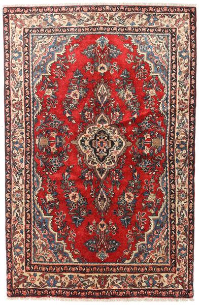 Hamadan Patina Teppe 130X200 Ekte Orientalsk Håndknyttet Mørk Rød/Mørk Brun (Ull, Persia/Iran)
