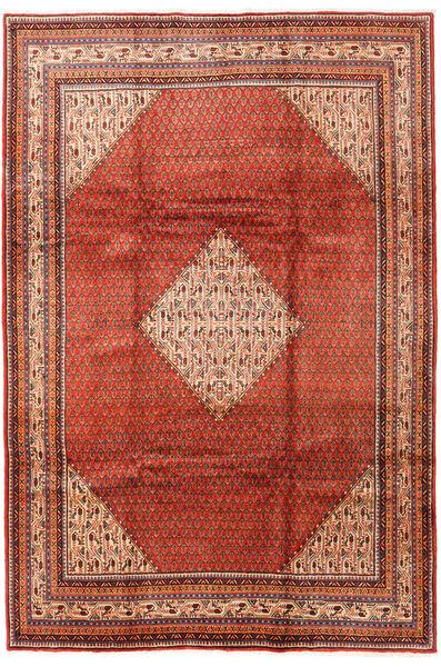 Sarough Mir Teppe 214X317 Ekte Orientalsk Håndknyttet Rust/Mørk Brun (Ull, Persia/Iran)