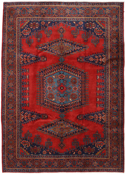 Wiss Teppe 220X307 Ekte Orientalsk Håndknyttet Mørk Rød/Svart (Ull, Persia/Iran)
