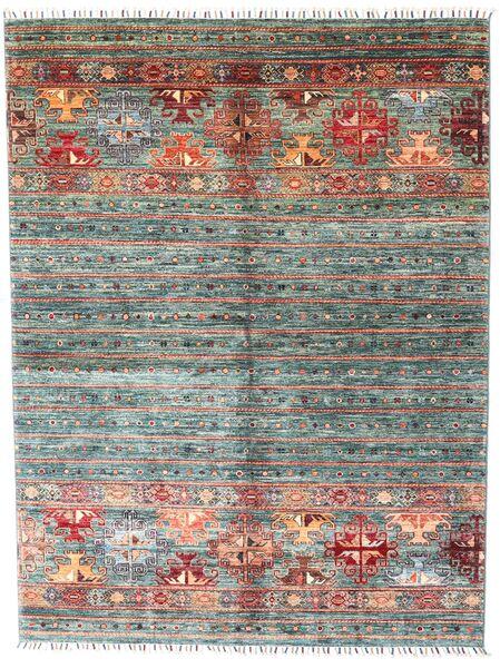 Shabargan Teppe 160X210 Ekte Moderne Håndknyttet Mørk Brun/Mørk Grå (Ull, Afghanistan)