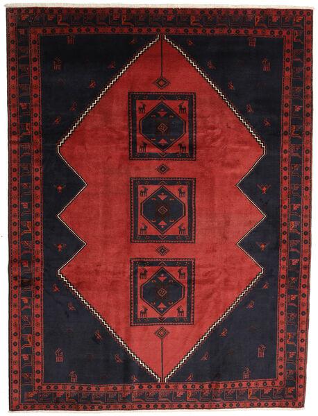 Klardasht Teppe 258X345 Ekte Orientalsk Håndknyttet Svart/Mørk Rød/Rust Stort (Ull, Persia/Iran)