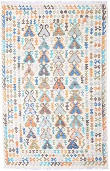 Kelim Afghan Old Style Teppe 194X302 Ekte Orientalsk Håndvevd Beige/Lys Grå (Ull, Afghanistan)