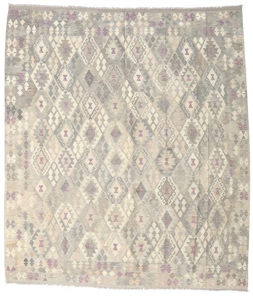 Kelim Afghan Old Style Teppe 264X302 Ekte Orientalsk Håndvevd Lys Grå/Beige Stort (Ull, Afghanistan)