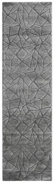 Patio - Grå Teppe 100X350 Moderne Teppeløpere Mørk Grå/Lys Grå ( Tyrkia)