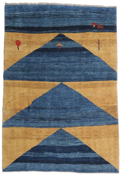 Gabbeh Rustic Teppe 193X282 Ekte Moderne Håndknyttet Mørk Blå/Blå/Lysbrun (Ull, Persia/Iran)