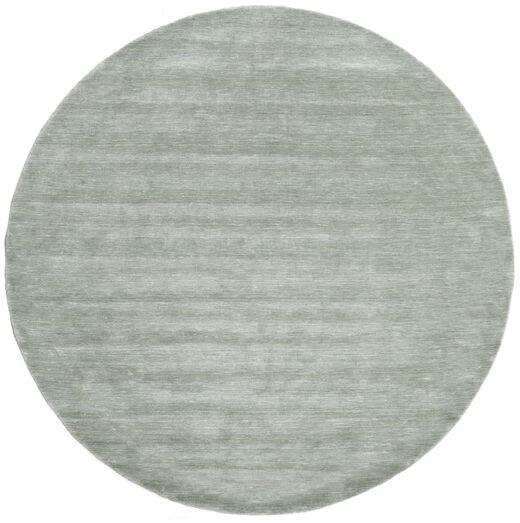 Handloom - Soft Teal Teppe Ø 250 Moderne Rundt Lysgrønn/Turkis Blå Stort (Ull, India)
