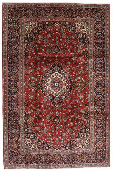 Keshan Teppe 238X364 Ekte Orientalsk Håndknyttet Mørk Rød/Svart (Ull, Persia/Iran)