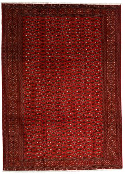 Turkaman Teppe 248X340 Ekte Orientalsk Håndknyttet Rød/Rust (Ull, Persia/Iran)