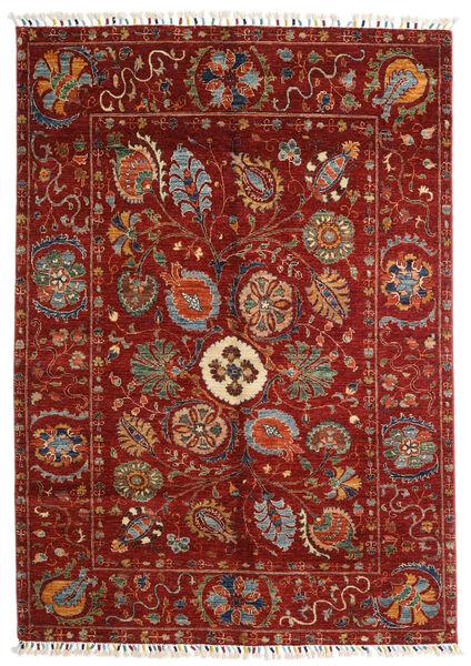 Shabargan Teppe 149X212 Ekte Moderne Håndknyttet Mørk Rød/Rød (Ull, Afghanistan)