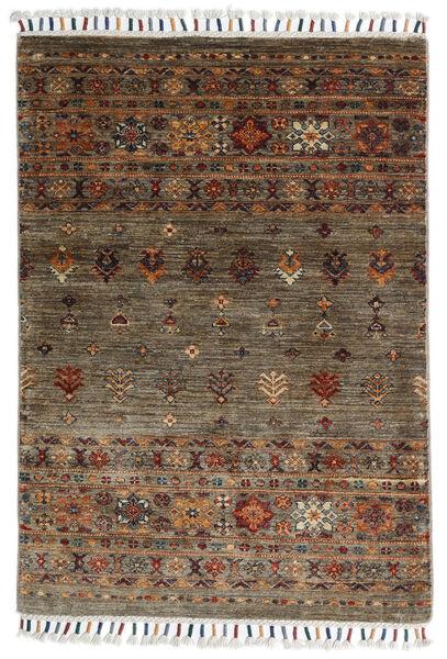 Shabargan Teppe 86X123 Ekte Moderne Håndknyttet Brun/Mørk Brun (Ull, Afghanistan)