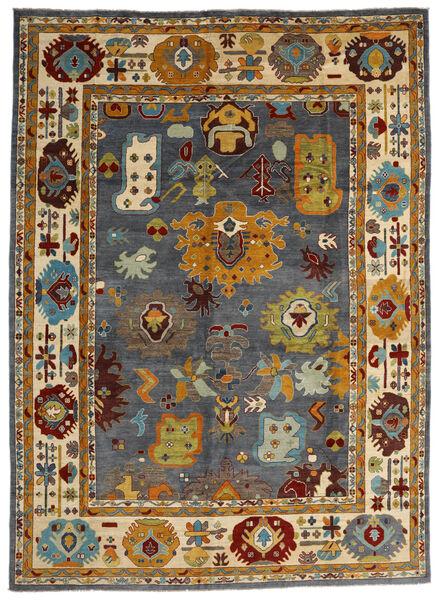 Kazak Teppe 303X419 Ekte Orientalsk Håndknyttet Brun/Svart Stort (Ull, Afghanistan)