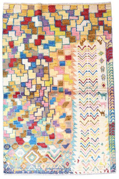 Moroccan Berber - Afghanistan Teppe 119X184 Ekte Moderne Håndknyttet Beige/Lysbrun (Ull, Afghanistan)
