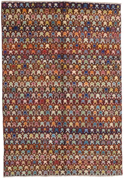 Moroccan Berber - Afghanistan Teppe 171X249 Ekte Moderne Håndknyttet Mørk Brun/Lysbrun (Ull, Afghanistan)