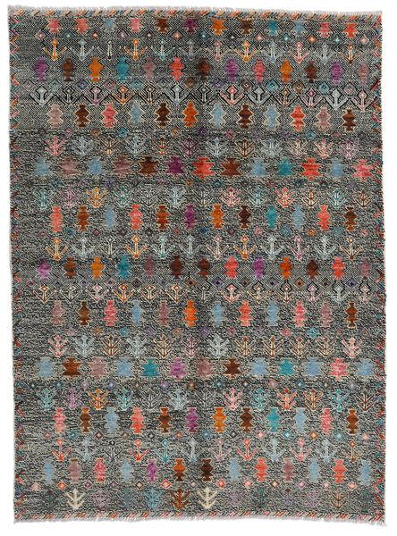 Moroccan Berber - Afghanistan Teppe 170X240 Ekte Moderne Håndknyttet Mørk Grå/Lys Grå (Ull, Afghanistan)