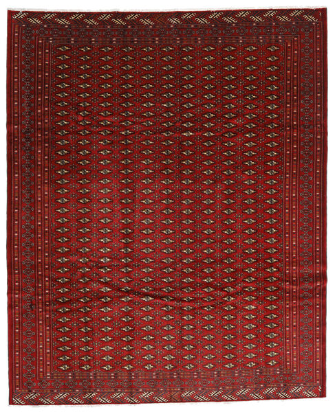 Turkaman Teppe 270X334 Ekte Orientalsk Håndknyttet Mørk Rød/Mørk Brun Stort (Ull, Persia/Iran)