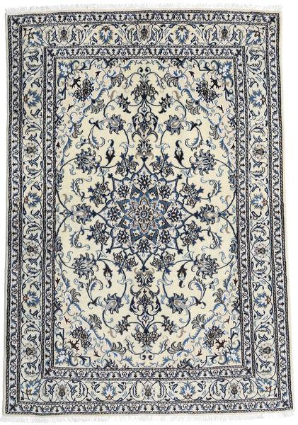 Nain Teppe 166X240 Ekte Orientalsk Håndknyttet Hvit/Creme/Svart (Ull, Persia/Iran)