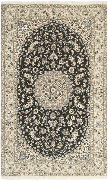 Nain 9La Teppe 146X242 Ekte Orientalsk Håndknyttet Lys Grå/Beige (Ull/Silke, Persia/Iran)
