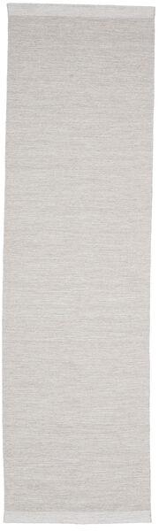 Serafina - Beige_Melange Teppe 100X450 Ekte Moderne Håndvevd Teppeløpere Lys Grå (Ull, India)