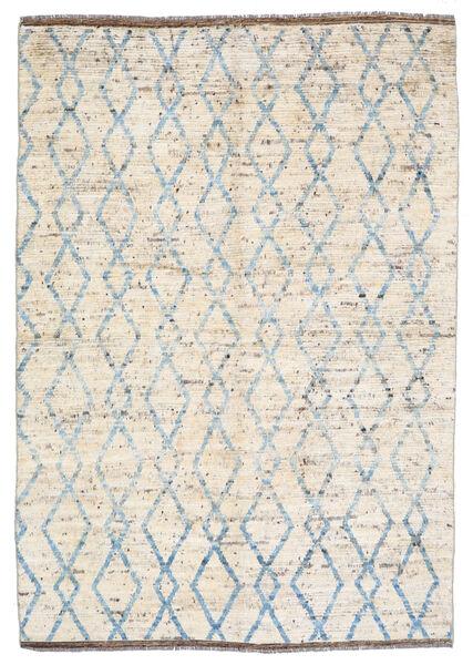 Moroccan Berber - Afghanistan Teppe 172X240 Ekte Moderne Håndknyttet Beige/Lys Grå (Ull, Afghanistan)