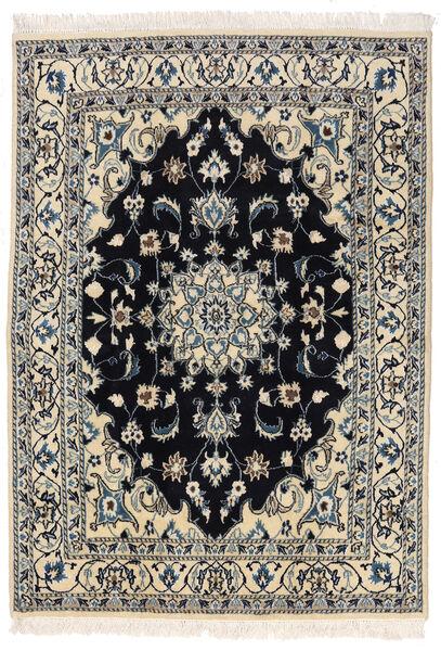 Nain Teppe 145X205 Ekte Orientalsk Håndknyttet Mørk Grå/Lys Grå (Ull, Persia/Iran)
