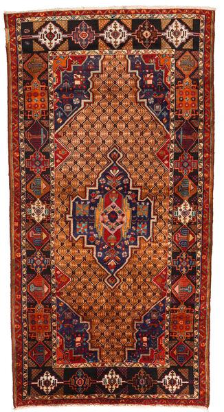 Koliai Teppe 130X255 Ekte Orientalsk Håndknyttet Mørk Brun/Rust (Ull, Persia/Iran)