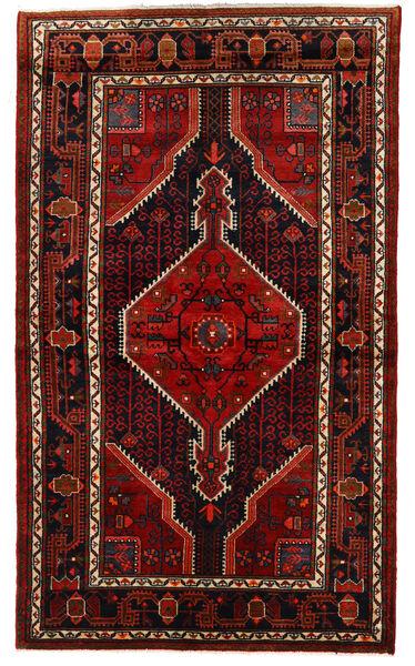 Hamadan Teppe 133X226 Ekte Orientalsk Håndknyttet Mørk Brun/Mørk Rød (Ull, Persia/Iran)
