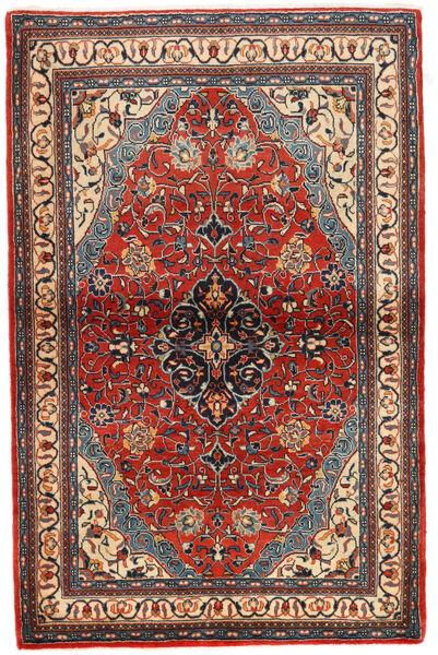 Sarough Teppe 104X163 Ekte Orientalsk Håndknyttet Svart/Rust (Ull, Persia/Iran)