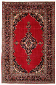 Keshan Patina Teppe 240X374 Ekte Orientalsk Håndknyttet Mørk Rød/Mørk Brun (Ull, Persia/Iran)