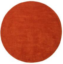 Handloom - Rust/Rød Teppe Ø 150 Moderne Rundt Rust (Ull, India)