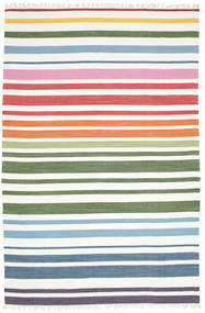 Rainbow Stripe - Vit Teppe 200X300 Ekte Moderne Håndvevd Hvit/Creme (Bomull, India)