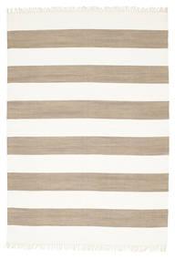 Cotton Stripe - Brun Teppe 160X230 Ekte Moderne Håndvevd Lys Grå/Hvit/Creme (Bomull, India)