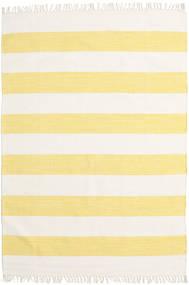 Cotton Stripe - Gul Teppe 140X200 Ekte Moderne Håndvevd Beige/Gul (Bomull, India)