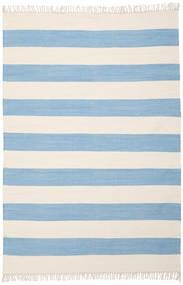 Cotton Stripe - Lys Blå Teppe 160X230 Ekte Moderne Håndvevd Lys Blå/Beige (Bomull, India)
