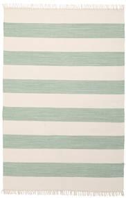 Cotton Stripe - Mint Teppe 140X200 Ekte Moderne Håndvevd Beige/Pastell Grønn (Bomull, India)